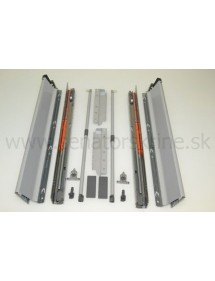 Tandembox 500 mm šedý, výšky D BLUM TBX500D